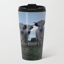 White High Park Cow Herd Travel Mug