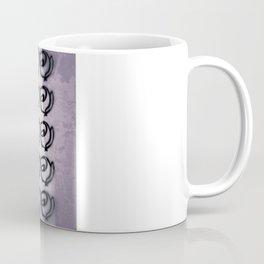 Rows of Flowers, Purple Coffee Mug