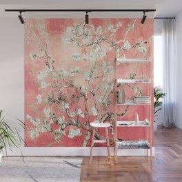 Van Gogh Almond Blossoms : Peach Wall Mural