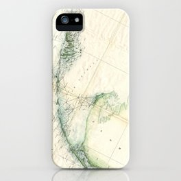 Vintage Map of The Florida Keys (1859) iPhone Case