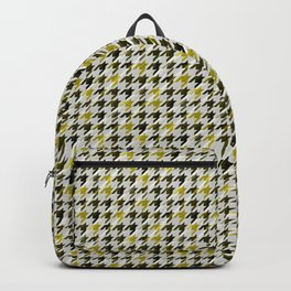 Glen Plaid. Black and mustard. Backpack