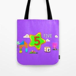 Number five - Kids Art Tote Bag