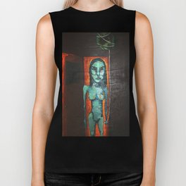 Our World on a String Biker Tank