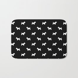 West Highland Terrier dog pattern minimal dog lover gifts black and white Bath Mat