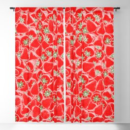 Strawberry Summer Blackout Curtain