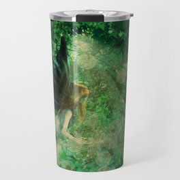Abstract illustration of fairy fly in the forest Travel Mug