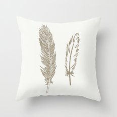Luxe Feathers Throw Pillow