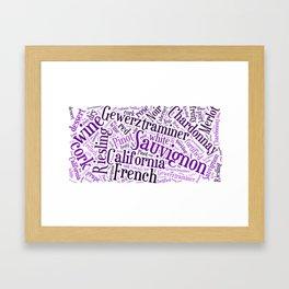 Wine Lovers Word Cloud Framed Art Print