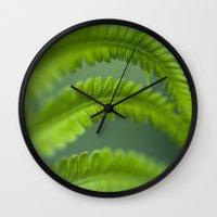 fern Wall Clocks featuring fern by tjasa