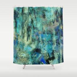 Ice Emerald Bog Shower Curtain