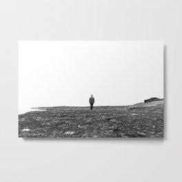 Serie #autoportrait // Black and White Version // France, 2013 Metal Print