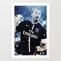 zlatan Art Prints featuring Zlatan Ibrahimovic by Max Hopmans / FootWalls