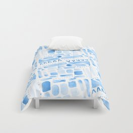 Watercolor Pattern Play in Blue Comforters