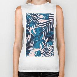 Tropical Jungle Leaves Pattern #6 #tropical #decor #art #society6 Biker Tank