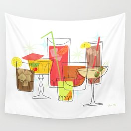 Swanky Summer Coolers Wall Tapestry