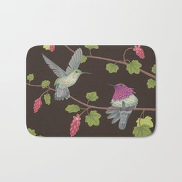 Anna's Hummingbirds Bath Mat