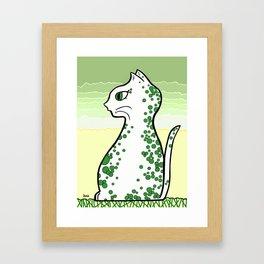 Bubbly Cat Framed Art Print