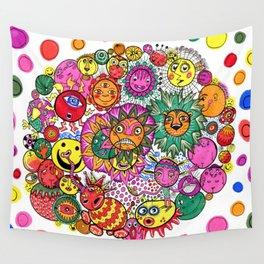 Circle of Circular Stuff Doodle Wall Tapestry