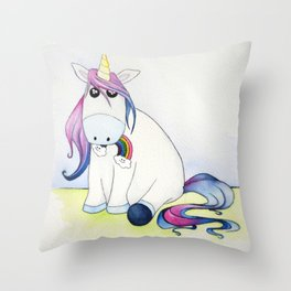 Whimsical Unicorn Throw Pillow