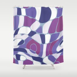 Funky Abstract 3 Shower Curtain