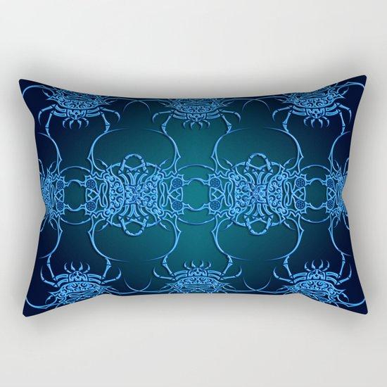 Tribal Crab Pattern Rectangular Pillow