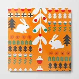 Sweet Christmas bunnies Metal Print