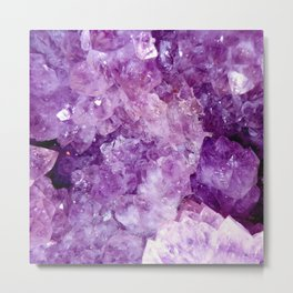 Purple Gems Metal Print