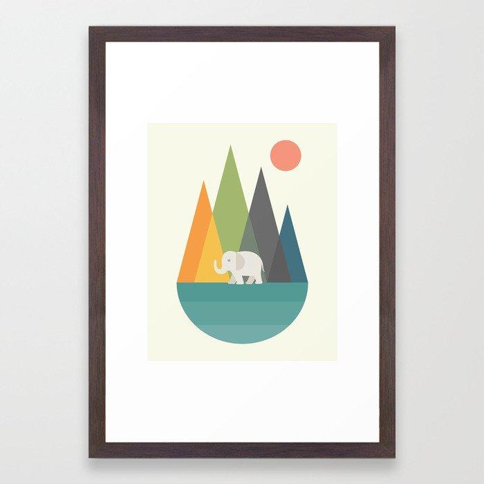 Walk In Peace Framed Art Print