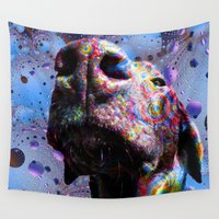 lab Wall Tapestries featuring Chocolate Lab Nose by Roger Wedegis