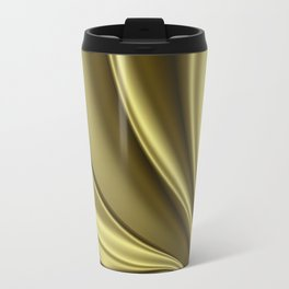 Abstract Fractal Colorways 02 Simple Gold Travel Mug