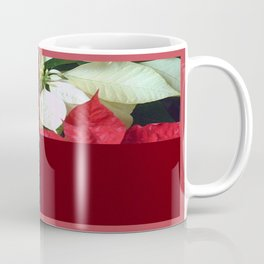 Mixed Color Poinsettias 2 Merry Christmas Q10F1 Coffee Mug