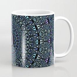 Blue Sacred Kaleidoscope Mandala Coffee Mug