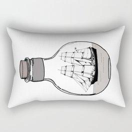The ship in the glass bulb . Artwork Rectangular Pillow