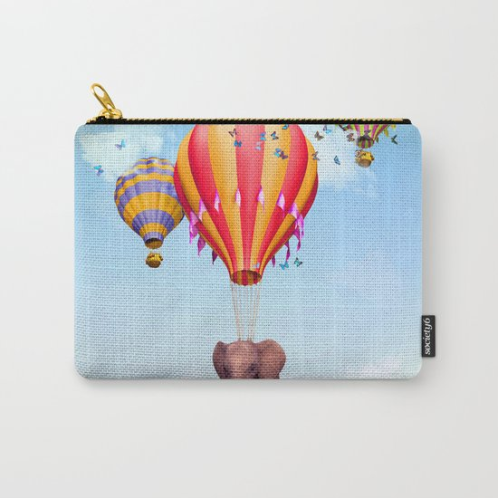 Elephant flying Carry-All Pouch
