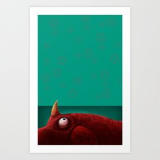 Red Creature Art Print