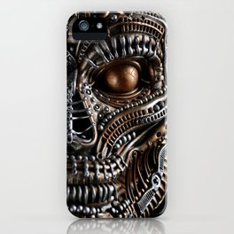 Biomechanical monster iPhone Case