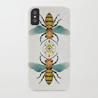 bee iPhone & iPod Cases featuring bee by Manoou