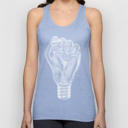 Protest fist light bulb / 3D render of glass light bulb in the form of clenched fist Unisex Tank Top