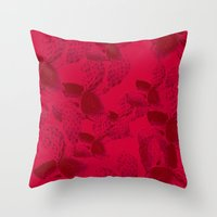 dna Throw Pillows featuring DNA by Hipsterdirtbag