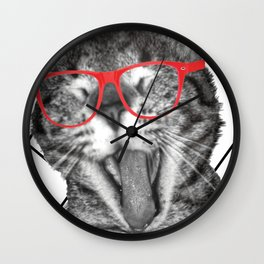 Meatloaf the cat Wall Clock