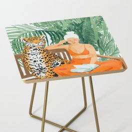 Jungle Vacay #painting #illustration Side Table