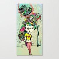 tyler durden Canvas Prints featuring Love Tyler Durden by Veronica Atomica
