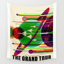 NASA Space Saturn Shuttle Retro Poster Futuristic Explorer Wall Tapestry