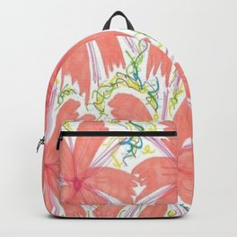 Tropical Sunburst Flowers Backpack