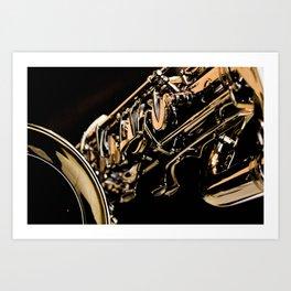 Musical Gold Art Print