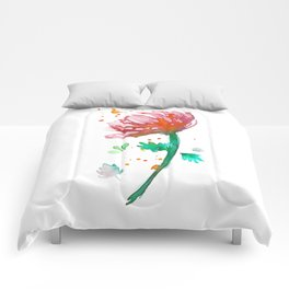 Warm Watercolour Fiordland Flower Comforters