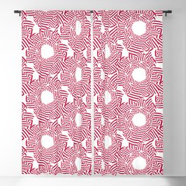 Candy cane flower pattern 8 Blackout Curtain