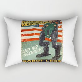 Franklin D. Roosevelt and his Amazing Robot Legs.... Rectangular Pillow