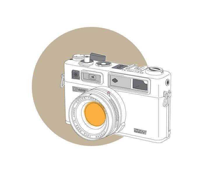 Yashica Electro 35 GSN Camera Metal Travel Mug