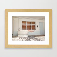 Tub Nap Framed Art Print